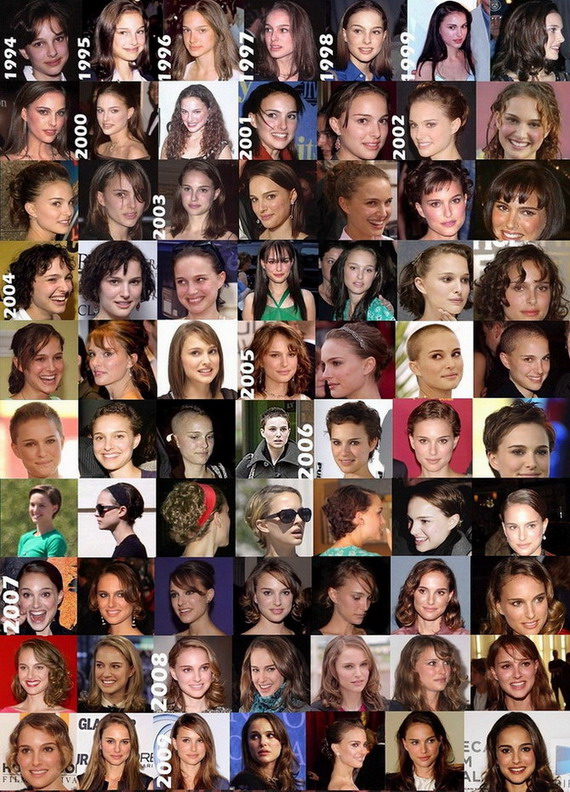 Evolution of Natalie Portman's hair. Friday, July 30, 2010