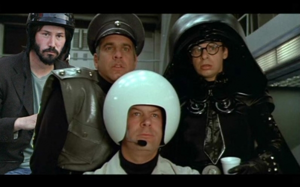 Helmet Keanu in Spaceballs
