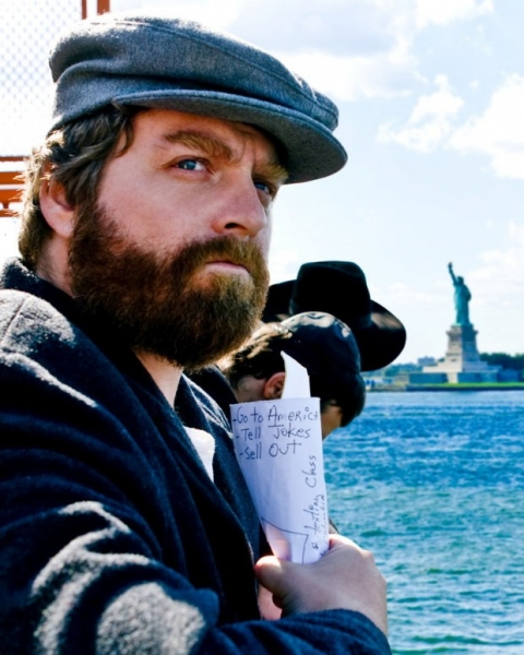 Zach Galifianakis go to America