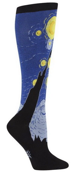 Vincent Van Gogh Starry Nightr sock