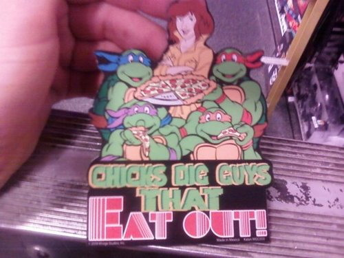 Chicks dig guys that eat out - TMNT