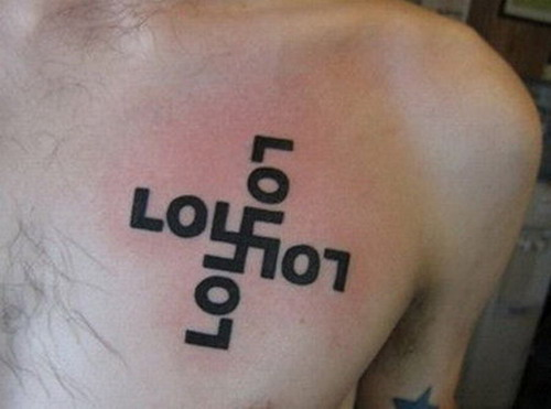 Nazi LOL tattoo. Tuesday, August 11, 2009