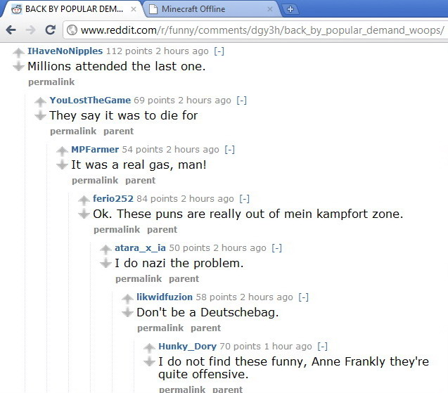 Comments from a Reddit post :
