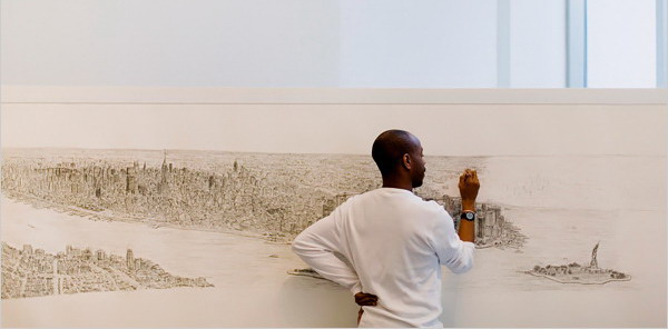 stephen wiltshire times square at night. Stephen Wiltshire of