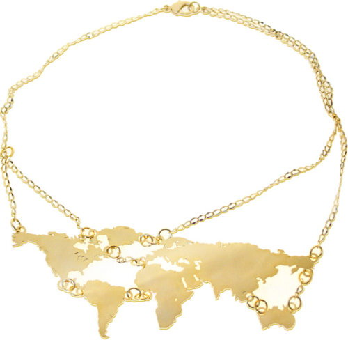 the world map 2009. Map of the world necklace