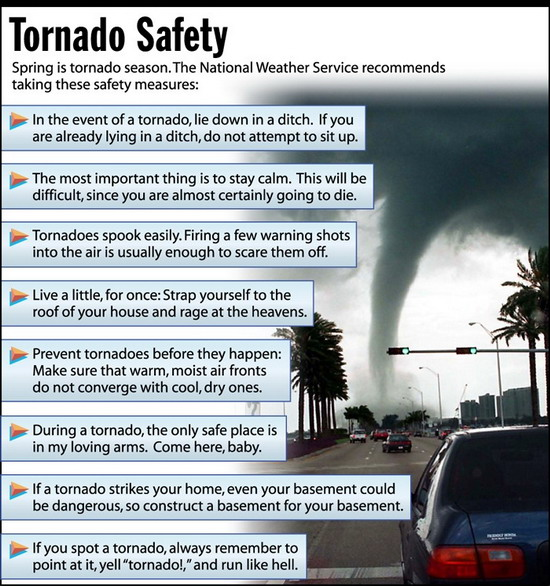 Tornado safety instructions