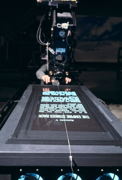Filming the Star Wars opening text. Wednesday, October 13, 2010