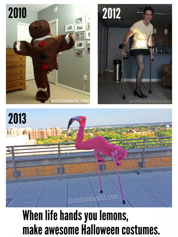 Amputee Flamingo Halloween costume