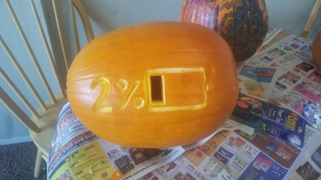 2% battery pumpkin carving