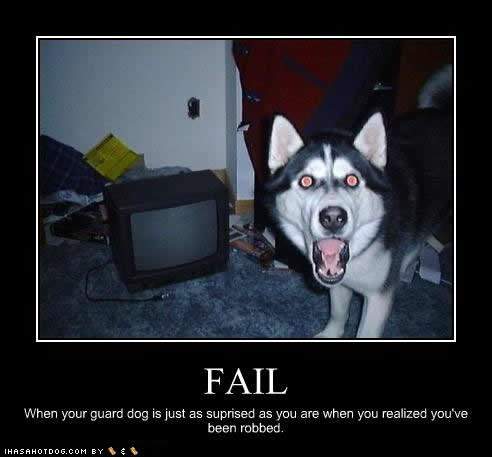 Funny Motivational Posters Fail on Guard Dog Fail