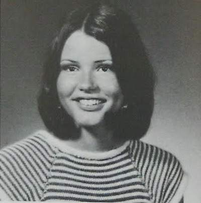 Young Geena Davis before she was famous yearbook picture