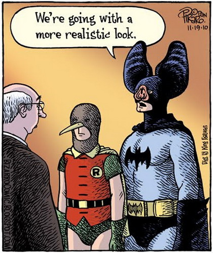 Batman and Robin with realistic looks