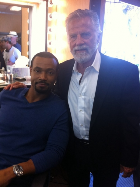 Isaiah Mustafa and Jonathan Goldsmith