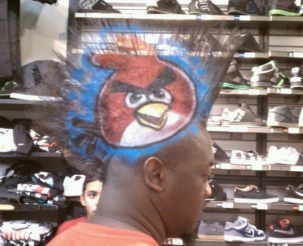 Angry Birds hair
