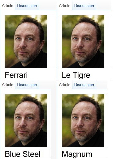 Jimmy Wales Ferrari, Le Tigre, Blue Steel, Magnum