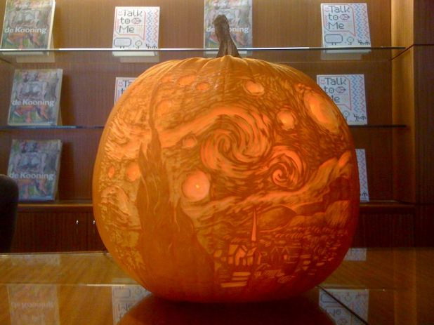 Starry Night Halloween pumpkin