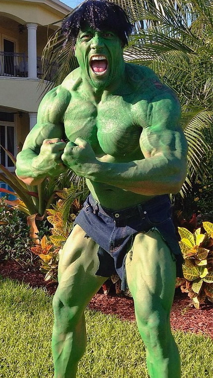 Dwayne The Rock Johnson as Hulk Halloween costume