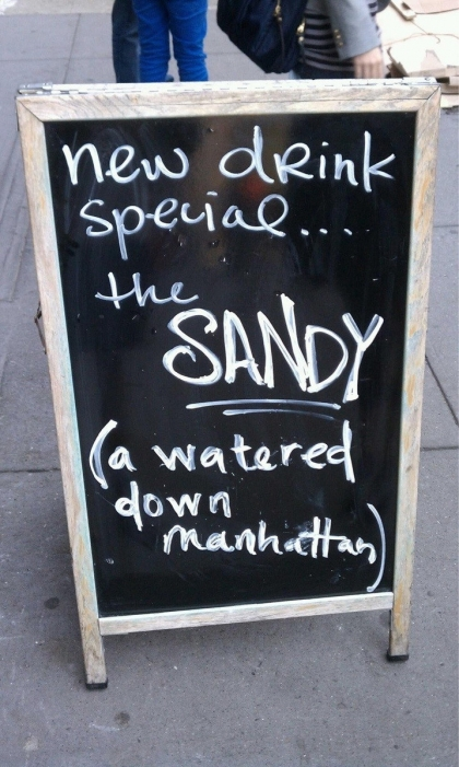 Sandy - a watered-down Manhattan