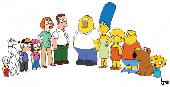 The Simpsons vs The Griffins Family Guy mashup