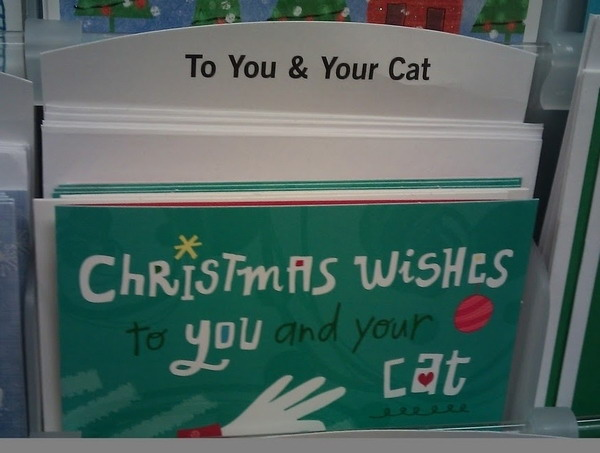 Christmas wishes for you and your cat