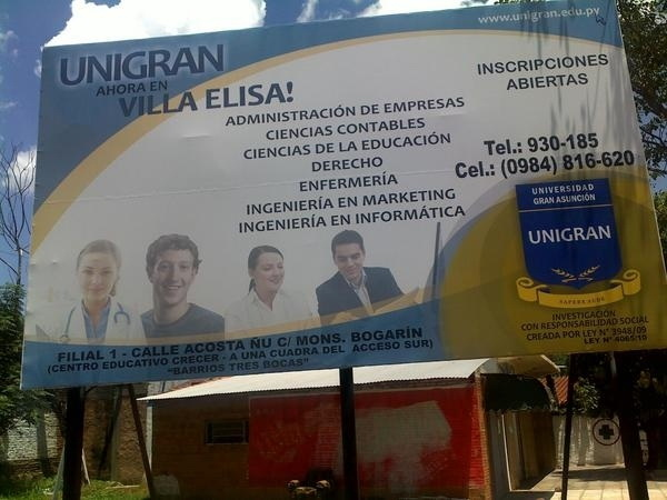 Mark Zuckerberg billboard in Paraguay