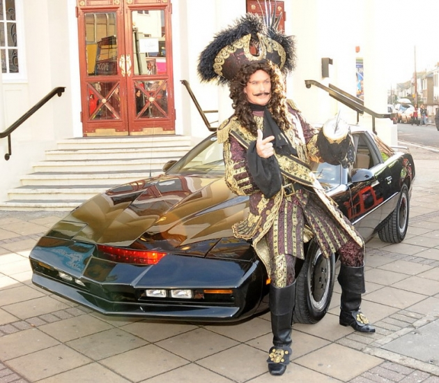 Pirate David Hasselhoff and KITT