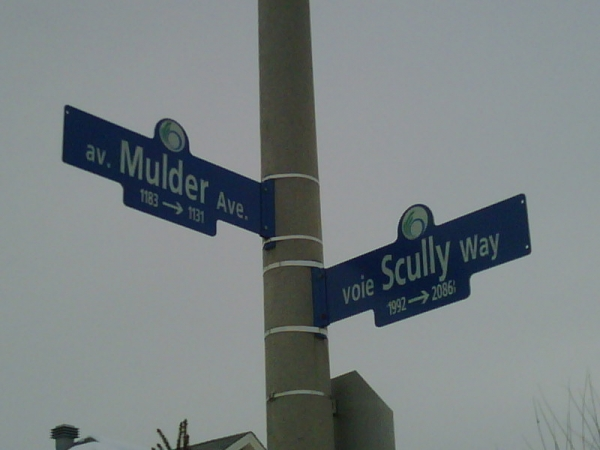 Scully Way & Mulder Ave