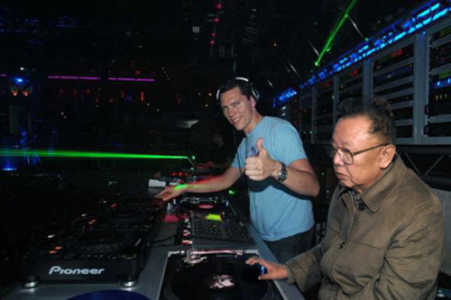 Kim jong il and Tiesto