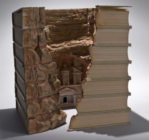 Amazing book carving art