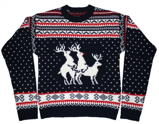 Humpping reindeers sweater