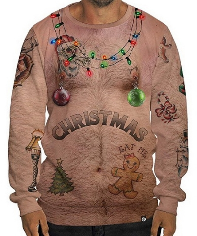 Bare Chest Ugly Christmas Sweater
